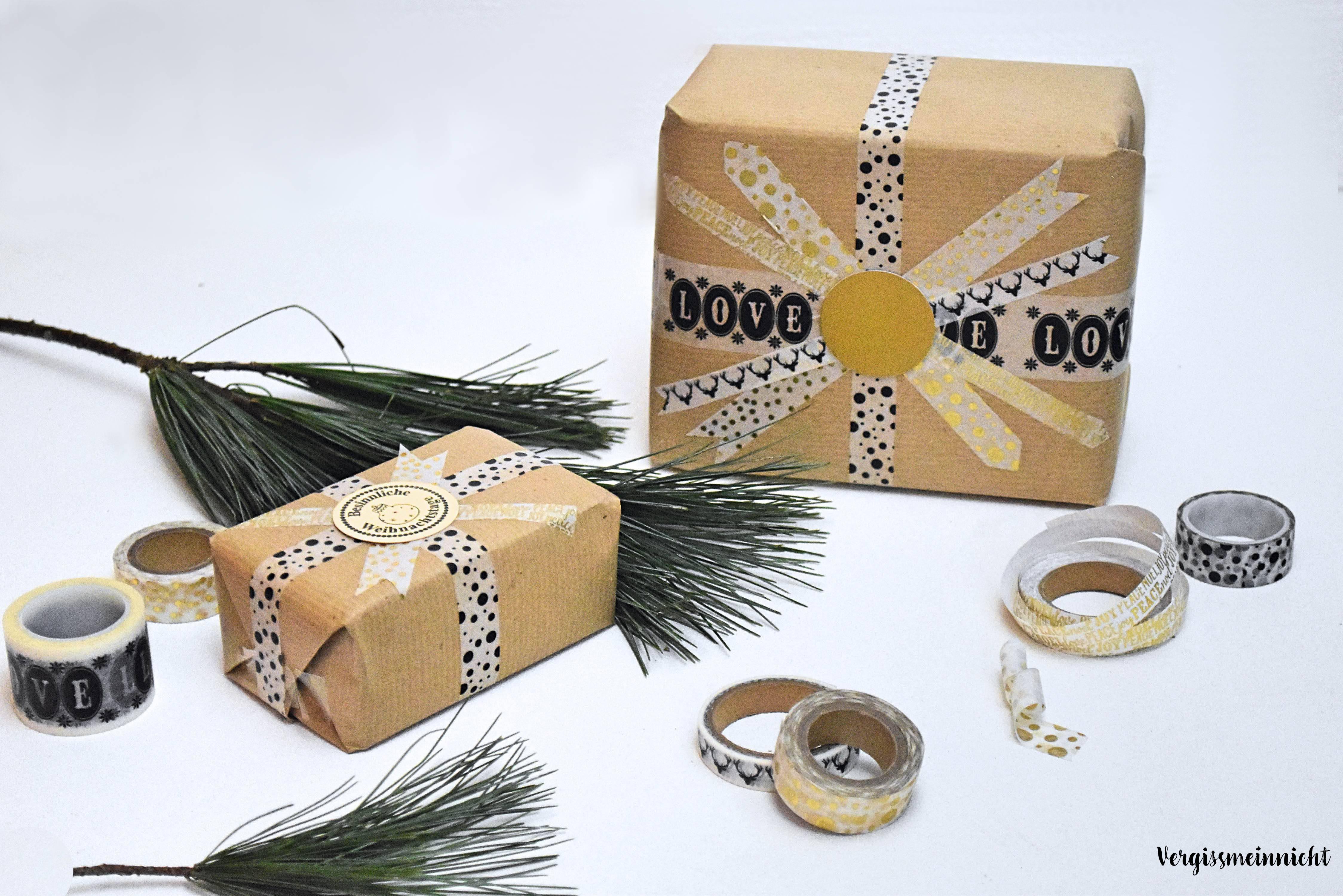 geschenkverpackung einfach g nstig und schnell gemacht vergissmeinnnicht. Black Bedroom Furniture Sets. Home Design Ideas