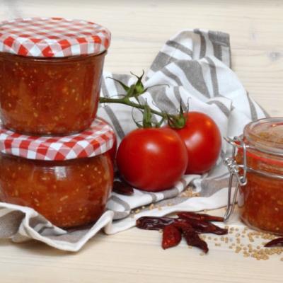 pfirsich tomaten chutney